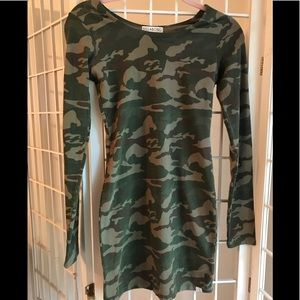 Billabong Body Con Camouflage dress size s